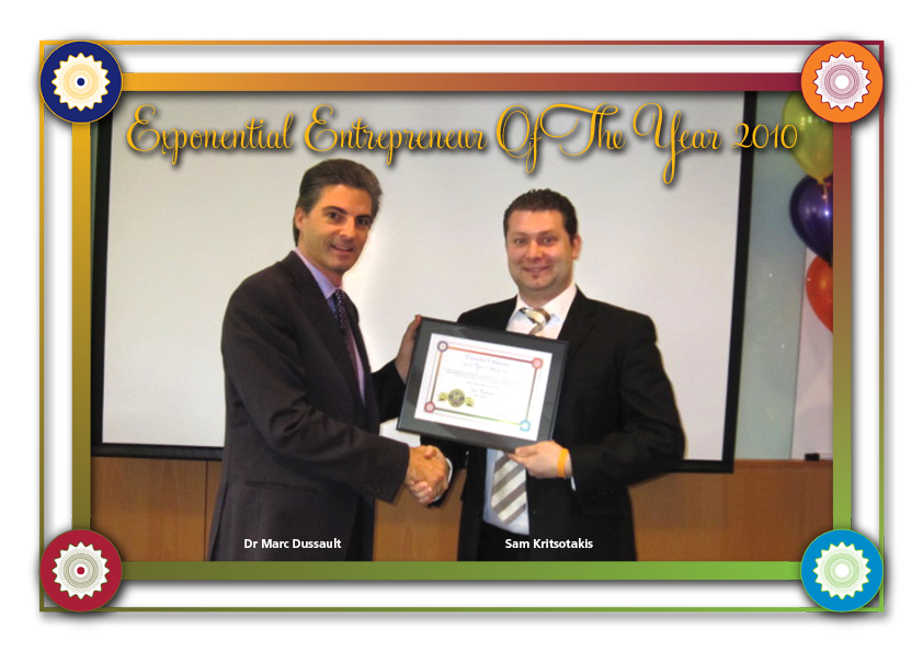 Sam Kritsotakis - Exponential Entrepreneur Of The Year 2010