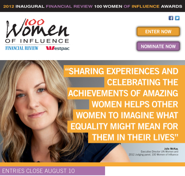 100 Women, AFR Women, 100women, Woman Of Influence