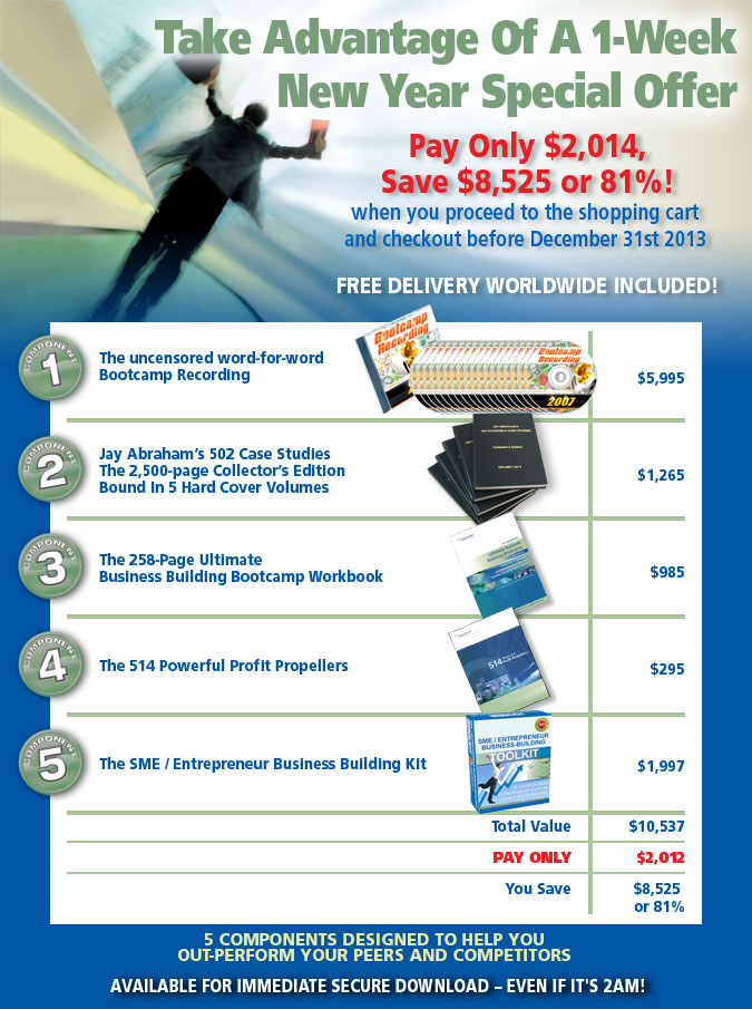 Exponential Programs - Bootcamp Bundle Special Offer Dec 2013