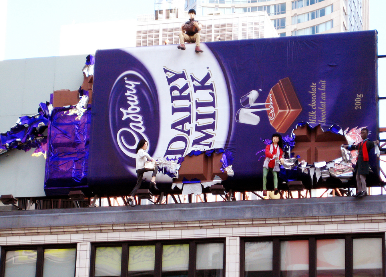 Cadbury billboard