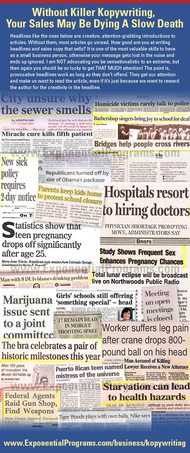 Funny Headlines - Exponential Programs Dot Com