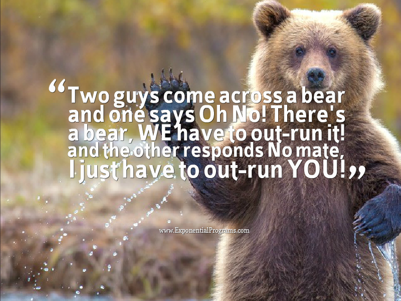 Bear waving - quote