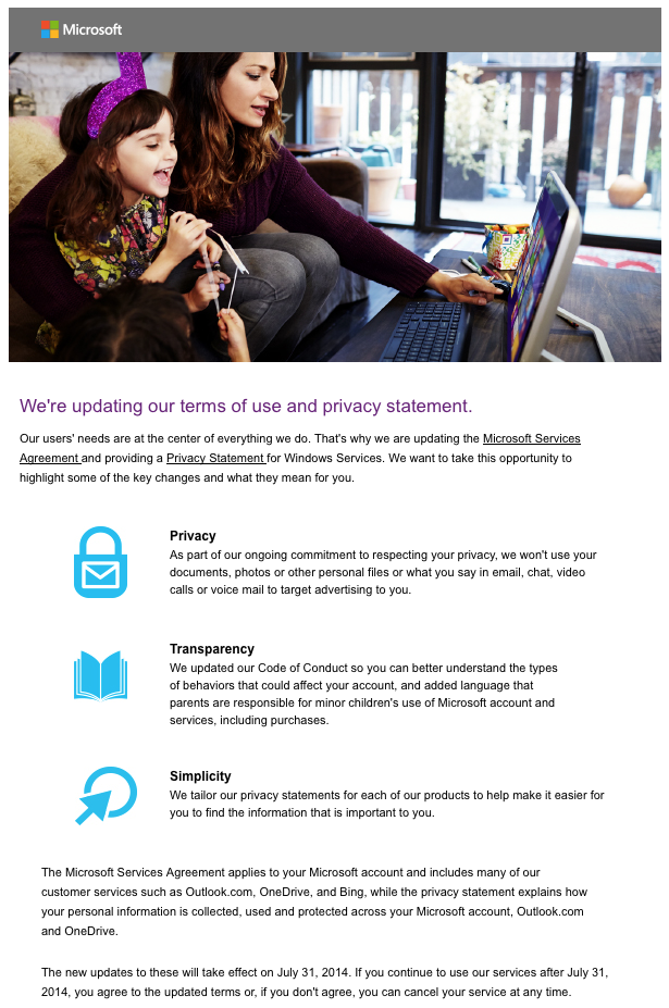 Microsoft Piracy Statement