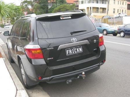 Frickin License Plate