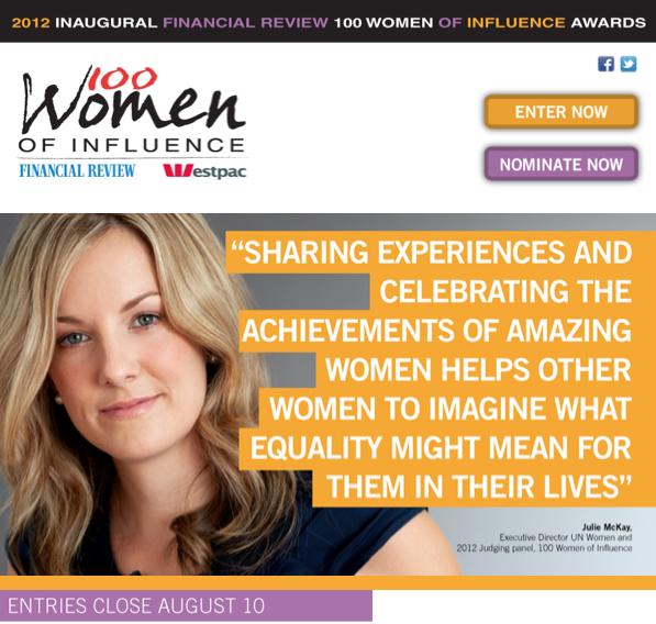100 Women, AFR Women, 100women, Woman Of Influence