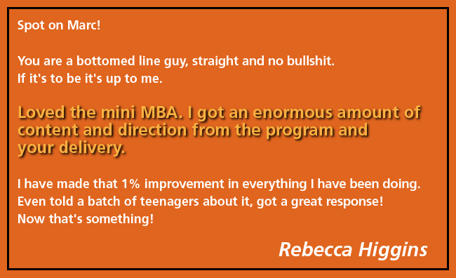 Testimonial, Endorsement, Dr Marc Dussault, Exponential Programs, Rebecca Higgins
