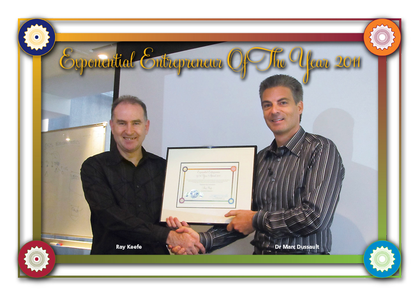 Ray Keefe, Exponential Entrepreneur Award, Dr Marc Dussault