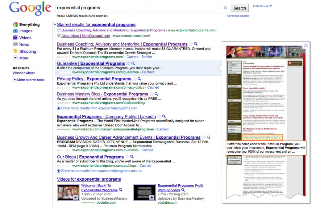Google Preview Example