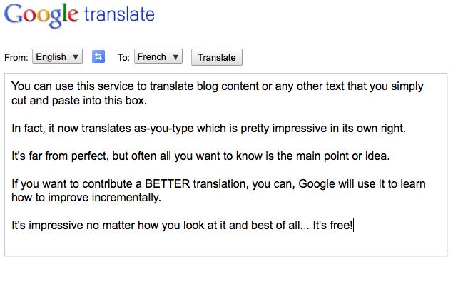 Google Translate -1