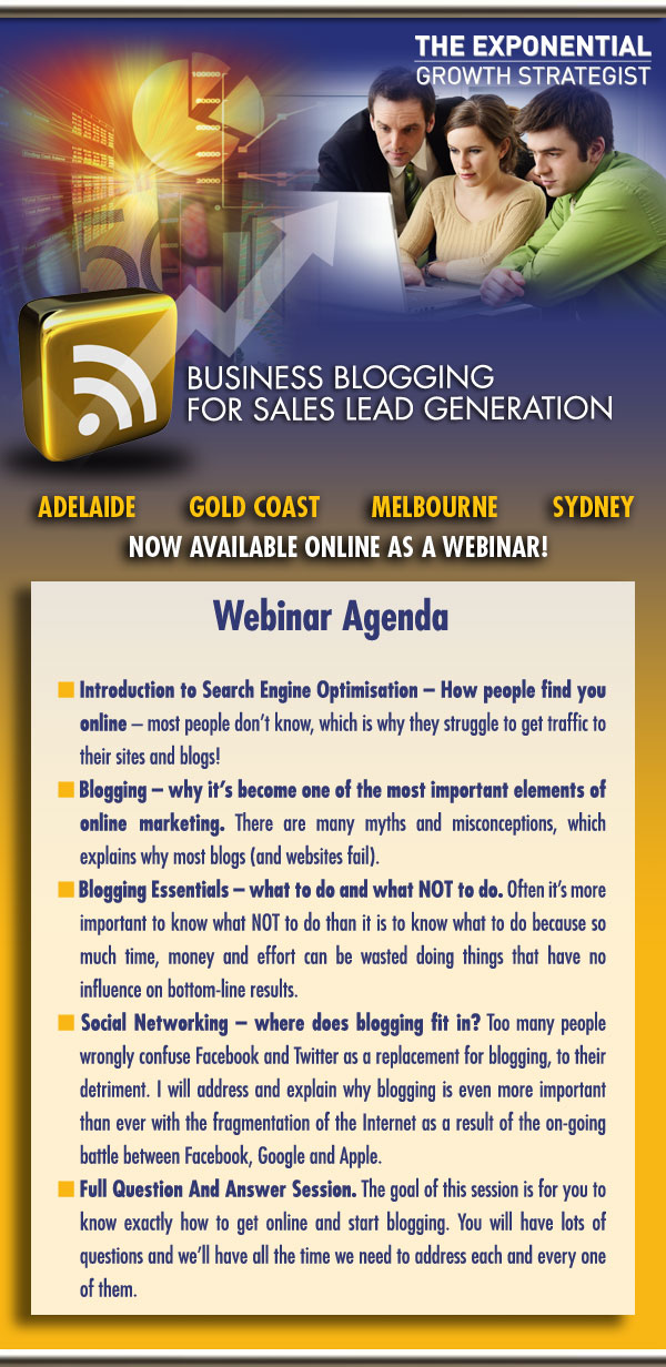 Business Blogging, Online Sales Leads, Web Leads, Lead Generation