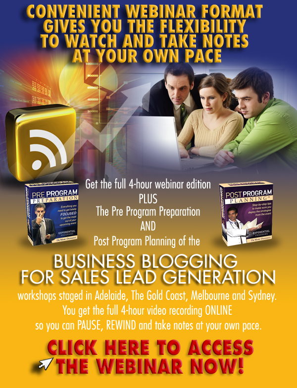 Web Leads, Lead Generation, Business Blogging, Blogging For Business
