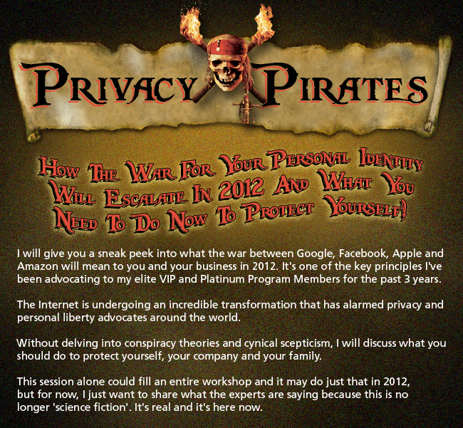 Google Facebook War, Privacy Pirates, Online Privacy Violation