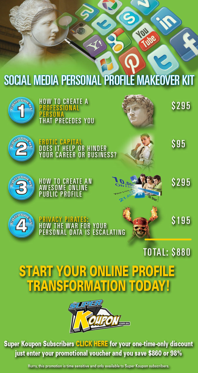Social Media Personal Profile Makeover Kit - Super Koupon Offer